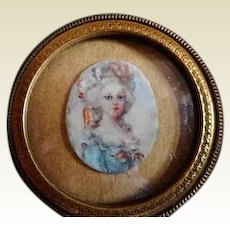 A miniature portrait of a lady. Early 19th century.