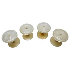Set of 4 pearl spools / cotton reels. c 1840