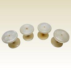 Set of 4 pearl spools / cotton reels. c 1840