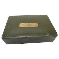 Sir E. Landseer memorabilia-Tartan Ware cigar box - . 19thc