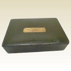 A Tartan Ware cigar box - Landseer. 19thc