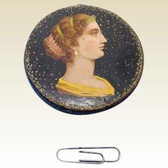 Striking pin cushion disc. c 1860