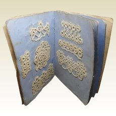A little sampler book of tatting. Mid 19th century.