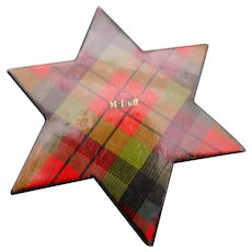A Tartan Ware thread winder. Clan Mc Duff. 19thc
