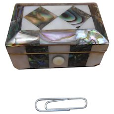 A mother of pearl pin box. c 1840.