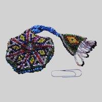 A bead work watch pocket. 19thc