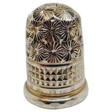 Mint Charles Horner Chester 1897 silver thimble