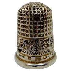 A mint Charles Horner silver thimble. Chester 1900