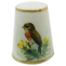William Powell. A Worcester porcelain bird thimble. c 1931