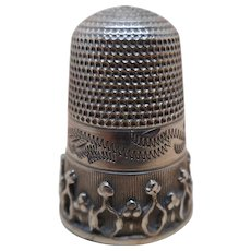 An English silver thimble. c 1860
