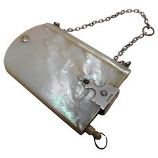 A pearl chatelaine piece-a swivel note book titled Monday to Saturday. c1860