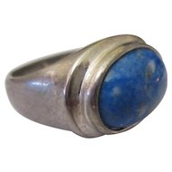 Beautiful Lapis Sterling silver ring