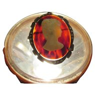 Art Deco faux tortoiseshell, celluloid, sterling,  pendant