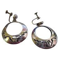 Vintage 1960's 925 Taxco drop earring