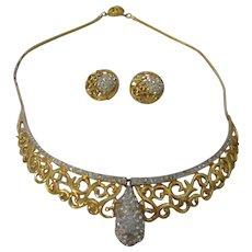 Vintage Oleg Cassini 1964 necklace/earrings