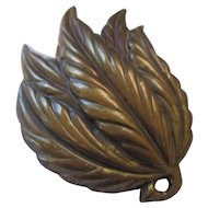 Vintage brass fur clip.