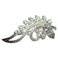 Gorgeous floral shiny rhinestone brooch by Eisenberg Ice