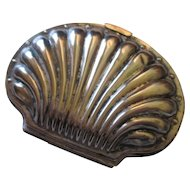 Victorian Silverplate  clam coin purse