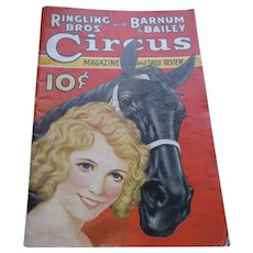 Vintage 1933 Ringling Bros and Barnum & Bailey Magazine and Daily Review.
