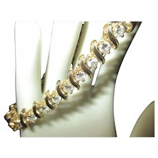 Gorgeous 6.5 diamond carat 14k yellow gold tennis bracelet