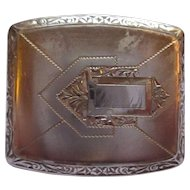 Art Deco Sterling silver belt buckle
