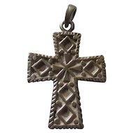 Vintage Scandinavian/ European ? Sterling cross pendant