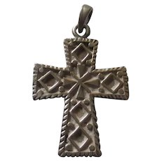 Vintage Scandinavian/ European ? Sterling cross pendant