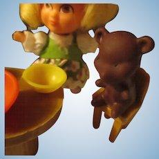 Vintage Storykins, Goldilocks/bear set.