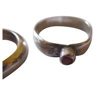 Pair of vintage sterling silver rings