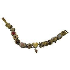 Very nice charm slider bracelet