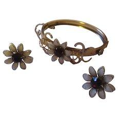 Vintage Coro/Prestige bracelet/earrings set