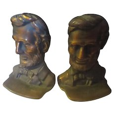 Vintage cast iron Abraham Lincoln book ends
