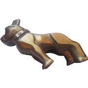 Authentic Mack the Bulldog hood ornament/ gold tone patent 87931