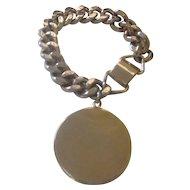 Vintage super thick silver tone Sperry bracelet