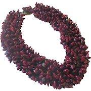 Unique Pomegranate glass beaded necklace
