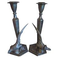 Pair of vintage Weildlich Bros Pheasant candle holders