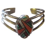 Vintage listed artist Ray Jack sterling/mulit gemstone bracelet.
