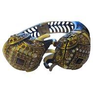 Gorgeous Swarovski crystal, enamel Majestic Mr. Elephant watch/bangle  Heidi Daus