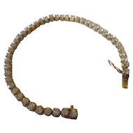 Sterling, vermile cubic Zirconia tennis bracelet