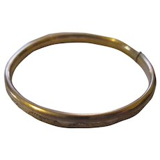 Late Victorian child's 10k yellow gold bangle