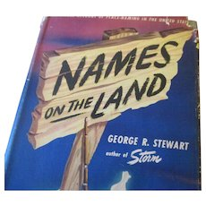 Vintage 1945 First Printing book Names on the Land by George R. Stewart