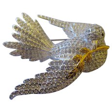 Joan Rivers large Classic Dove brooch