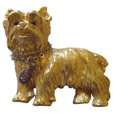Sweet Scottie dog brooch by Joan rivers/with personal hang tag