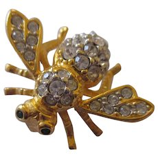 Joan Rivers Ice crystal bee brooch