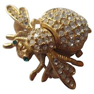Classic Collection Quartz Bee watch Brooch Joan Rivers