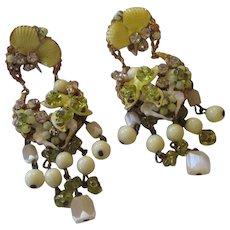 Vintage Chandelier Robert clamp earrings
