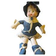 Vintage Sweet Felt Doll