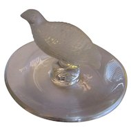 Vintage Lalique France Game bird ring bowl.