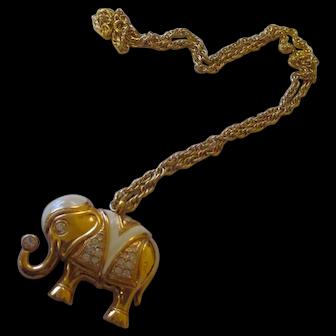 Elephant necklace KJL/Avon