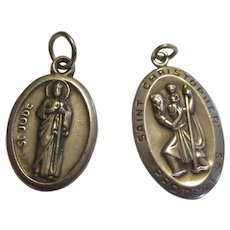 Sterling religion charms or pendants